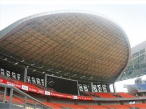 河南足球场看台网架